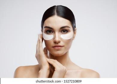 Beautiful woman naked shoulders nature health lifting cosmetics moisturizing
