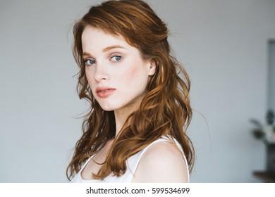 Beautiful woman natural portrait.