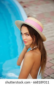 Beautiful woman on vacation at summer time