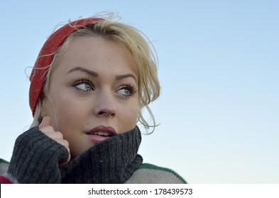 Beautiful woman outdoor portrait