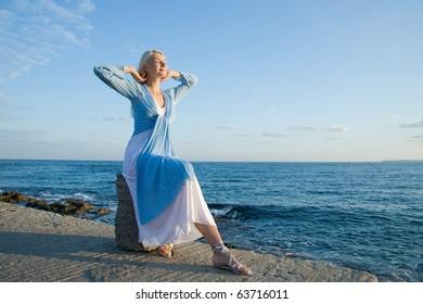 Beautiful woman outdoors