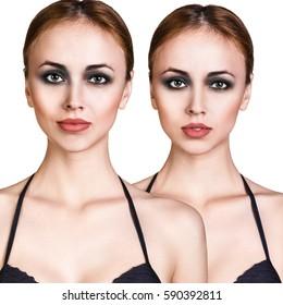 Beautiful woman with perfect skin.