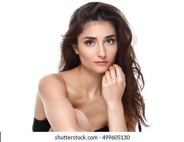 Beautiful woman portrait skin care concept beauty