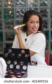 Beautiful woman portrait wearing make up
