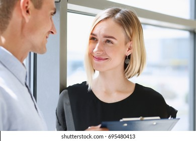 Beautiful woman portrait at workplace examining financial statistics. White collar worker at workspace, exchange market, startup, irs, certified public accountant, internal Revenue officer concept