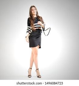 beautiful woman posing as a model