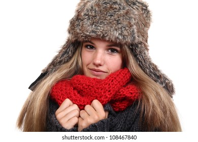 Beautiful woman ready for the winter