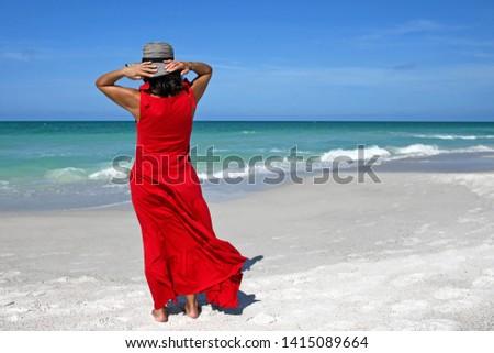 beautiful-woman-red-summer-dress-450w-14