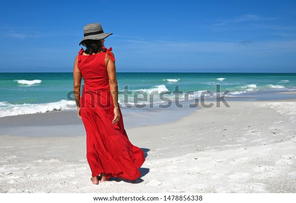 beautiful-woman-red-summer-dress-600w-14