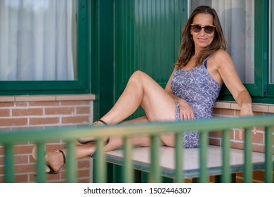 beautiful woman in sexy dress