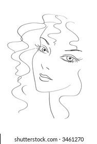 Beautiful woman sketch