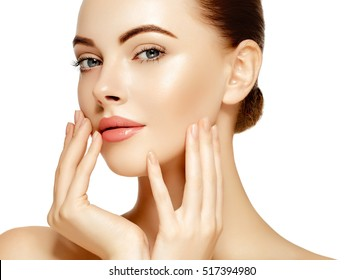 Beautiful woman skincare portrait
