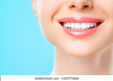 Beautiful woman smile, healthy white teeth. dentistry concept
