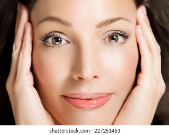 Beautiful woman smiling - close up.