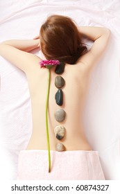 beautiful woman at the spa center for lastone