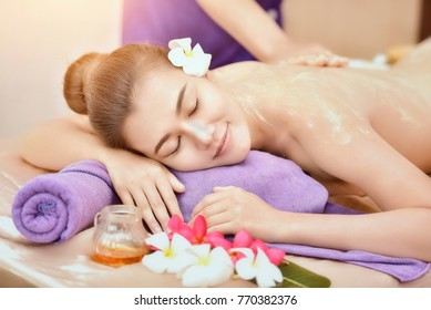 Beautiful woman in spa salon,Leisure,The girl relaxes in the spa salon,portrait of young beautiful woman in spa environment