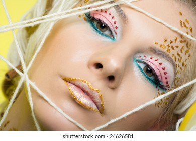 beautiful woman with special makeup