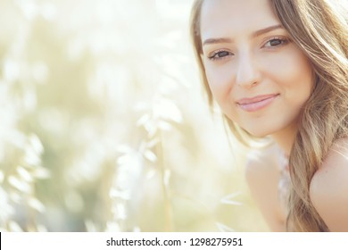 Beautiful woman in spring