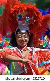 Beautiful woman in a summer carnaval parade (Rotterdam, Netherlands, 2007)