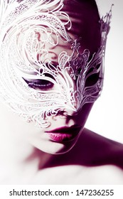 Beautiful woman with Venetian Mask