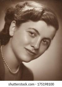 Beautiful woman vintage photo