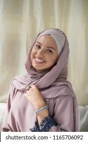 beautiful woman wearing hijab