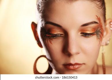 Beautiful woman wearing make-up