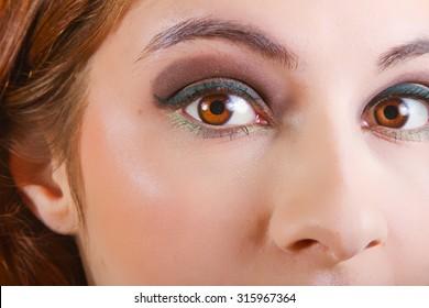 Beautiful Woman Wearing Natural Color Makeup