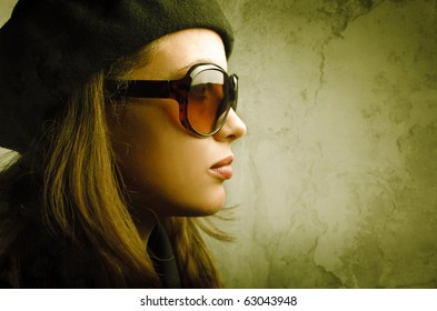 b39edb134 Girl Wear Sunglasses Images, Stock Photos & Vectors | Shutterstock