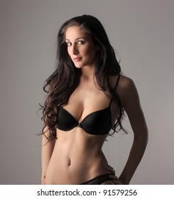 Beautiful woman wearing underwear