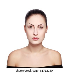 face without makeup images stock photos  vectors