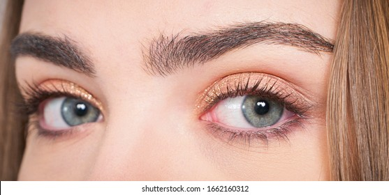 beautiful womans eye detail close-up shot
