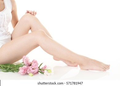 Beautiful woman's legs