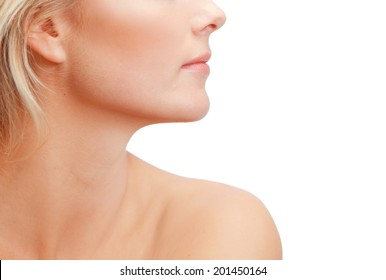 Beautiful woman's profile