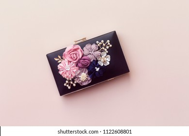 beautiful women black clutch, wedding bag