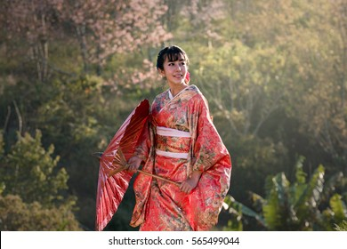 Beautiful women in kimono Traditional Japanese