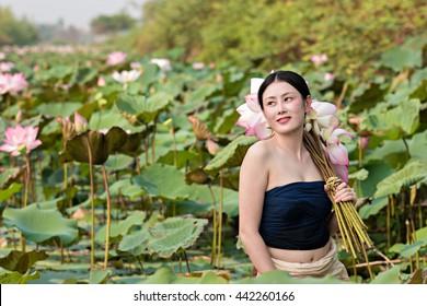 Beautiful women in Lotus Gardens