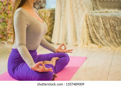 Beautiful women with meditation and yoga to refresh the mind and spirit, With sunlight morning, concept of relaxation and body and mind development from fatigue from work to nature.