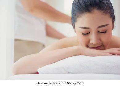 Beautiful women relaxing with massage in the spa