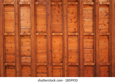 Beautiful wood ceiling pattern