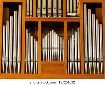 Beautiful wood organ detail