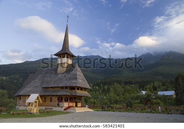 Beautiful wooden monastery