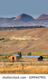 beautiful Wyoming barns on a western ranch in the USA