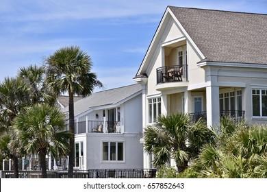 Beautiful yellow beach house