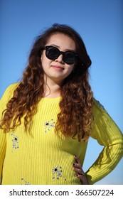 Beautiful yellow girl.