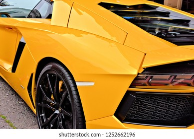 Beautiful yellow lamborghini