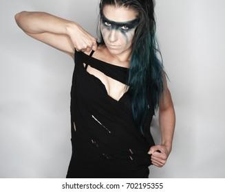 Beautiful yong woman, posing with professional make-up