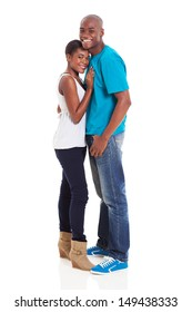 beautiful young african american couple isolated on white