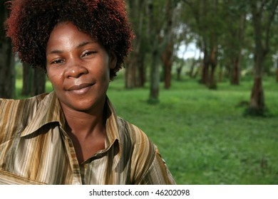 Beautiful Young African Lady in Natural Setting