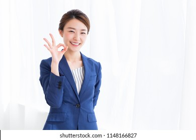 Beautiful young asian businesswoman